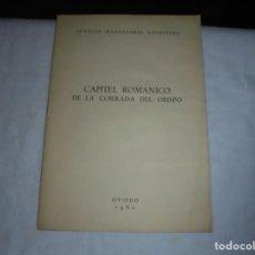 Libros de segunda mano: CAPITEL ROMANICO DE LA CORRADA DEL OBISPO.JOAQUIN MANZANARES.OVIEDO 1960.DEDICADO A JOSE CUESTA POR. Lote 206271075