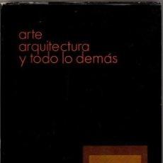 Libros de segunda mano: FULLAONDO, JUAN DANIEL. ARTE, ARQUITECTURA Y TODO LO DEMÁS. ALFAGUARA. PRIMERA EDICIÓN.. Lote 206274688