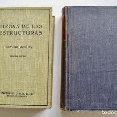 Libros de segunda mano: LOTE DE 2 LIBROS . ARTHUR MORLEY. S. TIMOSHENKO Y D.H. YOUNG. TEORÍA DE LAS ESTRUCTURAS. 1950-57. Lote 206280207