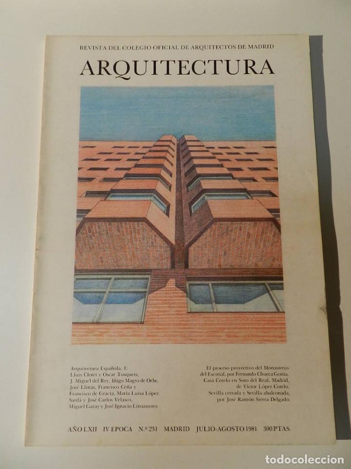 ARQUITECTURA COAM Nº 231 1981 REVISTA DEL COLEGIO OFICIAL DE ARQUITECTOS DE MADRID (Libros de Segunda Mano - Bellas artes, ocio y coleccionismo - Arquitectura)