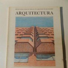 Libros de segunda mano: ARQUITECTURA COAM Nº 231 1981 REVISTA DEL COLEGIO OFICIAL DE ARQUITECTOS DE MADRID. Lote 206911790