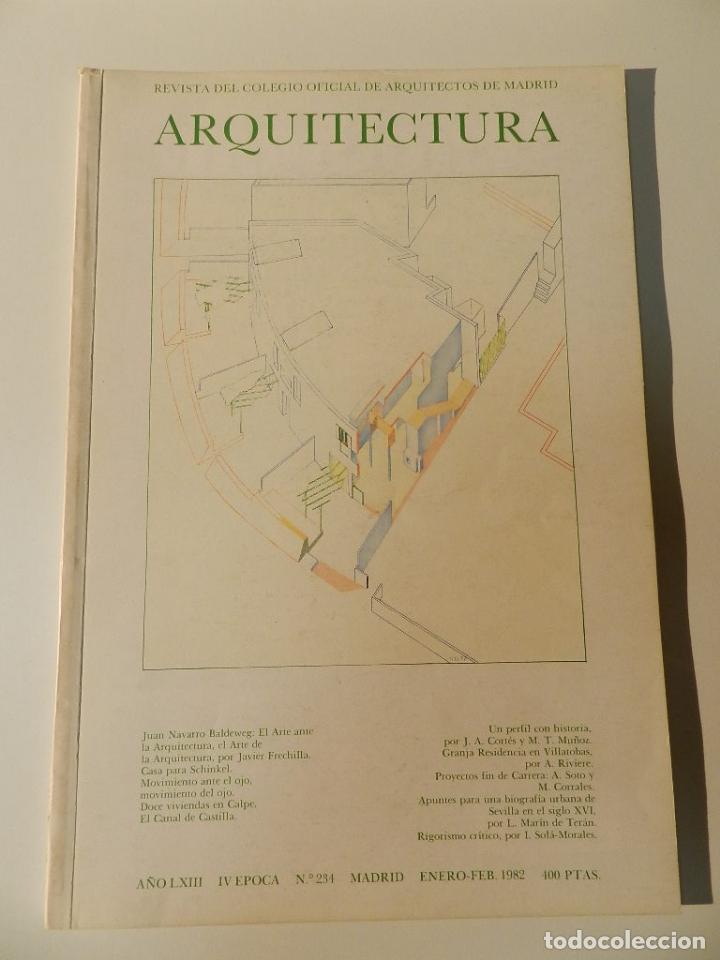 ARQUITECTURA COAM Nº 234 1982 REVISTA DEL COLEGIO OFICIAL ARQUITECTOS DE MADRID (Libros de Segunda Mano - Bellas artes, ocio y coleccionismo - Arquitectura)
