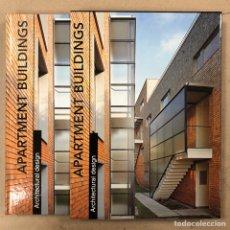 Libros de segunda mano: APARTAMENT BUILDINGS. ARCHITECTURAL DESING. ARIAN MOSTAEDI. INSTITUTO MONSA DE EDICIONES.. Lote 207617412