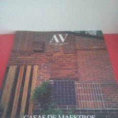 Libros de segunda mano: MONOGRAFÍAS AV 132 - AÑO 2008 - CASAS DE MAESTROS. Lote 208754642