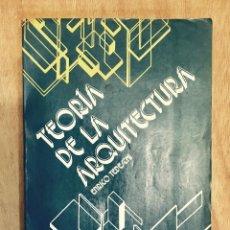Libros de segunda mano: TEORÍA DE LA ARQUITECTURA. ENRICO TEDESCHI.. Lote 209879846