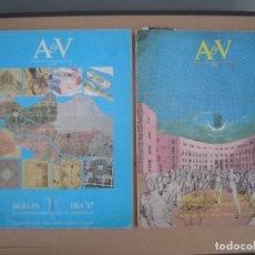 Libros de segunda mano: A&V MONOGRAFÍAS DE ARQUITECTURA Y VIVIENDA NºS 1 Y 2 1987.IBA 87 -EXP. INT. DE ARQ. DE BERLIN. Lote 210179345