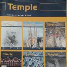 Libri di seconda mano: REVISTA TEMPLE MEMORIA ANUAL 2002. TEMPLE EXPIATORI DE LA SAGRADA FAMILIA. Lote 211892823