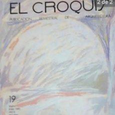 Libros de segunda mano: REVISTA ARQUITECTURA EL CROQUIS NÚMERO 19 Y 19 BIS. Lote 212329891