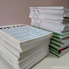 Libros de segunda mano: REVISTA DETAIL EN ESPAÑOL– COLECCIÓN COMPLETA 70 EJEMPLARES - REVISTA ARQUITECTURA. Lote 230078285