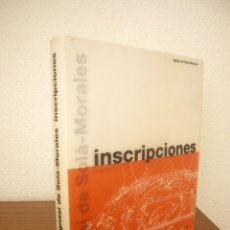 Libros de segunda mano: IGNASI DE SOLÀ-MORALES: INSCRIPCIONES (GUSTAVO GILI, 2003) MUY RARO. Lote 215826355