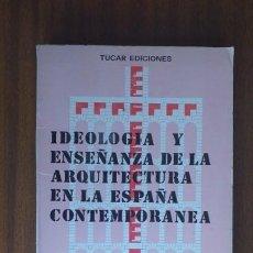 Libri di seconda mano: IDEOLOGÍA Y ENSEÑANZA DE LA ARQUITECTURA EN LA ESPAÑA CONTEMPORÁNEA --- ANTONIO FERNÁNDEZ ALBA, DIR.. Lote 34984583