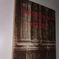 Libros de segunda mano: CARACTERISTIQUE DES STYLES. 410 SUJETS DE STYLES DONT 18 REPRODUCTIONS PHOTOGRAPHIQUES.. Lote 218519838