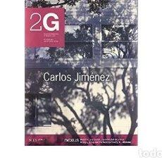 Libros de segunda mano: 2G: REVISTA INTERNACIONAL DE ARQUITECTURA - CARLOS JIMÉNEZ N13 2000/I. Lote 218724788
