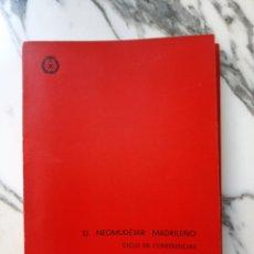 Libri di seconda mano: EL NEOMUDÉJAR MADRILEÑO - CICLO DE CONFERENCIAS- COLEGIO OFICIAL DE ARQUITECTOS DE MADRID - 1971. Lote 220562542