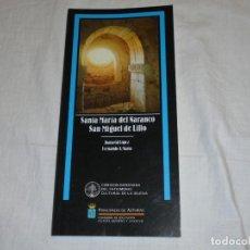 Libros de segunda mano: SANTA MARIA DEL NARANCO SAN MIGUEL DE LILLO.FERNANDO A MARIN/JUANA GIL.PRINCIPADO DE. Lote 222814051