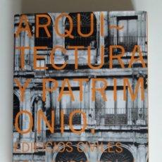 Libros de segunda mano: ARQUITECTURA Y PATRIMONIO. EDIFICIOS CIVILES DE LA CIUDAD DE LEÓN EN LA EDAD MODERNA. Lote 223452120