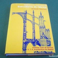 Libros de segunda mano: TEORIA , HISTORIA Y RESTAURACION DE ESTRUCTURAS DE FABRICA . JACQUES HEYMAN .. Lote 224647392