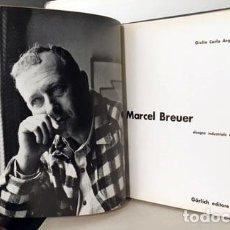 Libros de segunda mano: G. C. ARGAN : MARCEL BREUER (DISEGNO INDUSTRIALE E ARCHITETTURA). Lote 226283015