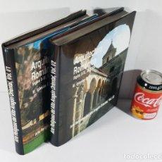 Libros de segunda mano: ARQUITECTURA ROMANICA SIGLOS X-XI-XII Y XIII. ARTE RELIGIOSO ALTO ARAGON ORIENTAL 2 TOMOS I/1 Y I/2. Lote 228002745