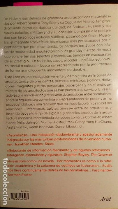 Libros de segunda mano: LA ARQUITECTURA DEL PODER. CÓMO LOS RICOS Y PODEROSOS DAN FORMA A NUESTRO MUNDO - Foto 2 - 230047830
