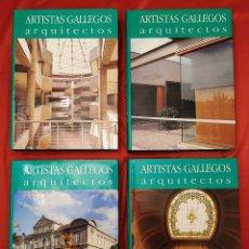 Libros de segunda mano: 4 TOMOS. ARTISTAS GALLEGOS. ARQUITECTOS. NOVA GALICIA. BUEN ESTADO. ANTÓN PULIDO NOVOA.. Lote 231499710