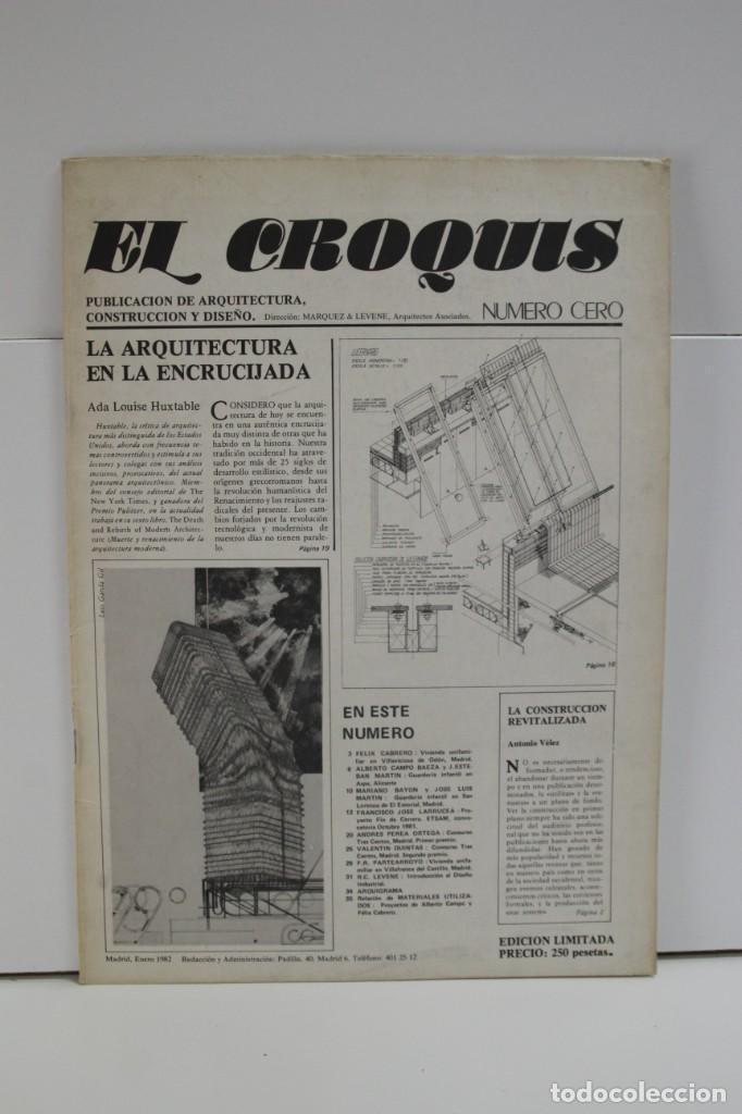REVISTA DE ARQUITECTURA EL CROQUIS Nº 0 (Libros de Segunda Mano - Bellas artes, ocio y coleccionismo - Arquitectura)