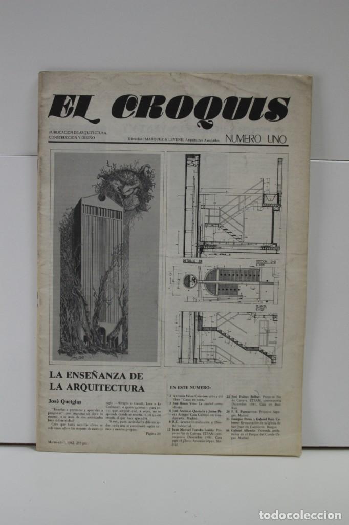 REVISTA DE ARQUITECTURA EL CROQUIS Nº 1 (Libros de Segunda Mano - Bellas artes, ocio y coleccionismo - Arquitectura)