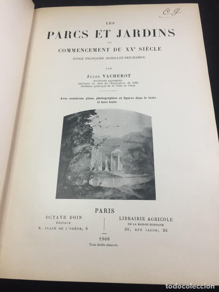 Libros de segunda mano: Les Parcs et Jardins au commencement du XXè siècle. Jules VACHEROT. Urbanismo arquitectura 1908 - Foto 3 - 234154795
