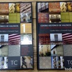 Libros de segunda mano: CENTRO HISTÓRICO DE VALENCIA. OCHO SIGLOS DE ARQUITECTURA RESIDENCIAL. C. MILETO Y F. VEGA. 2 TOMOS. Lote 236011505