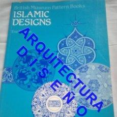 Libros de segunda mano: DIBUJOS DISEÑOS ARABES ISLAMIC DESIGNS EVA WILSON 28 CM ARQUITECTURA AQ10. Lote 237333190
