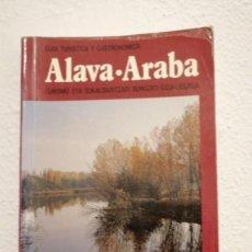 Libros de segunda mano: ALAVA-ARABA((GUIA TURISTICA Y GASTRONOMICA)) DIPUTACION FORAL DE ALAVA AÑO 1984. Lote 237573185