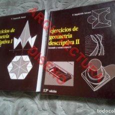 Livros em segunda mão: EJERCICIOS DE GEOMETRIA DESCRIPTIVA F IZQUIERDO ASENSI 2 TOMOS AQ16. Lote 239377845