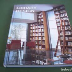 Libros de segunda mano: LIBRARY DESIGN .. Lote 244847300