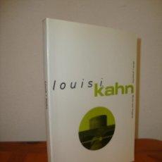 Libros de segunda mano: LOUIS I. KAHN. OBRAS Y PROYECTOS - ROMALDO GIURGOLA - GUSTAVO GILI, MUY BUEN ESTADO. Lote 245133030