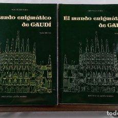 Livros em segunda mão: EL MUNDO ENIGMATICO DE GAUDI - TOKUTOSHI TORII - 2 VOLUMENES CON ESTUCHE - 1983 - TEXTO Y LAMINAS. Lote 245630880