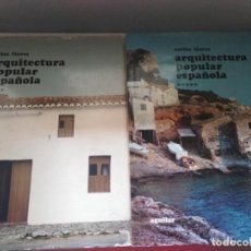 Libros de segunda mano: ARQUITECTURA POPULAR ESPAÑOLA TOMOS IV Y V CARLOS FLORES ED.AGUILAR. Lote 246510625