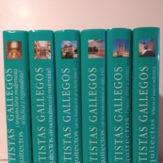 Libros de segunda mano: 6 TOMOS. NOVA GALICIA. ARTISTAS GALLEGOS. ARQUITÉCTOS. CASTELLANO. Lote 247000170