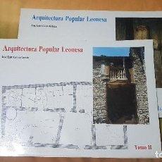 Libros de segunda mano: ARQUITECTURA POPULAR LEONESA (GARCÍA GRINDA, JOSÉ LUIS). Lote 252252585