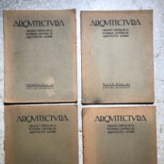 Libros de segunda mano: ARQUITECTURA. ORGANO OFICIAL SOCIEDAD CENTRAL DE ARQUITECTOS. MADRID. 1927-Nº 94 - 97 - 101 - 103. Lote 254788515