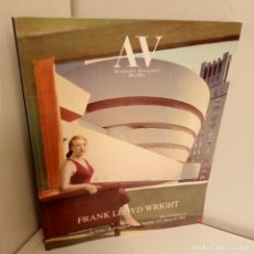 Libros de segunda mano: AV MONOGRAFIAS Nº 54 (1995), FRANK LLOYD WRIGHT, ARQUITECTURA / ARCHITECTURE, 1995. Lote 268293854
