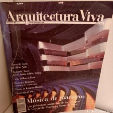 Libros de segunda mano: ARQUITECTURA VIVA Nº 10, MUSICA DE MAESTROS, ARQUITECTURA / ARCHITECTURE, ARQUITECTURA VIVA, 1990. Lote 269413043