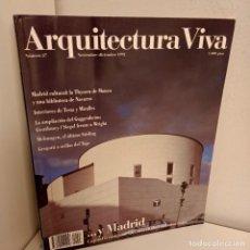Libros de segunda mano: ARQUITECTURA VIVA Nº 27, ...Y MADRID, ARQUITECTURA / ARCHITECTURE, ARQUITECTURA VIVA, 1992. Lote 269414208