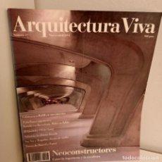 Libros de segunda mano: ARQUITECTURA VIVA Nº 17, NEOOCONSTRUCTORES, ARQUITECTURA / ARCHITECTURE, ARQUITECTURA VIVA, 1991. Lote 269416788