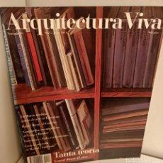 Libros de segunda mano: ARQUITECTURA VIVA Nº 18, TANTA TEORIA, ARQUITECTURA / ARCHITECTURE, ARQUITECTURA VIVA, 1991. Lote 269416893
