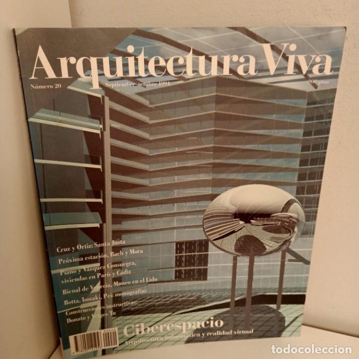 ARQUITECTURA VIVA Nº 20, CIBERESPACIO, ARQUITECTURA / ARCHITECTURE, ARQUITECTURA VIVA, 1991 (Libros de Segunda Mano - Bellas artes, ocio y coleccionismo - Arquitectura)