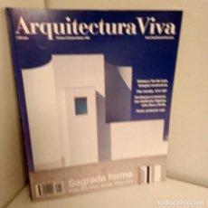 Libros de segunda mano: ARQUITECTURA VIVA Nº 58, SAGRADA FORMA, ARQUITECTURA / ARCHITECTURE, ARQUITECTURA VIVA, 1998. Lote 269419683