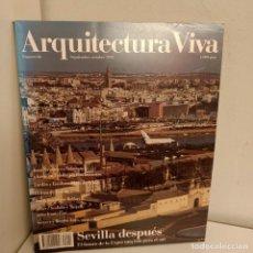 Libros de segunda mano: ARQUITECTURA VIVA Nº 26, SEVILLA DESPUES, ARQUITECTURA / ARCHITECTURE, ARQUITECTURA VIVA, 1992. Lote 269420348