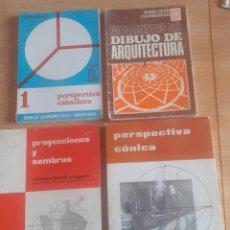 Libros de segunda mano: PERSPECTIVA CÓNICA-PROYECCIONES Y SOMBRAS-PERSPECTIVA CABALLERA-DIBUJO ARQUITECTURA (4 LIBROS VER). Lote 269438883