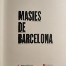 """Libros de segunda mano: """"MASIES DE BARCELONA"""". ANGLE EDITORIAL, 2009 Y AYUNTAMIENTO DE BARCELONA. ESTUCHE ORIGINAL. EN CATAL. Lote 275719323"""
