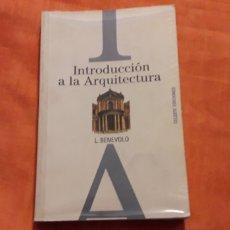 Libros de segunda mano: INTRODUCCIÓN A LA ARQUITECTURA, L. BENEVOLO,. Lote 276741803